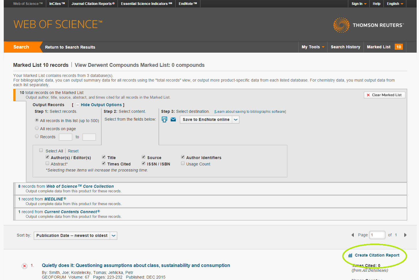 screenshot of WebScience